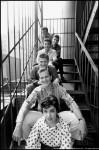 "Bottom to top: Annette Funiciello, Pat Boone, Paul Anka, Frankie Avalon, Bob Denver, Ed ""Cooky"" Berns, NYC, 1960"